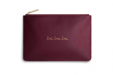 Katie Loxton LOVE LOVE LOVE Perfect Pouch Clutch Bag - Burgundy